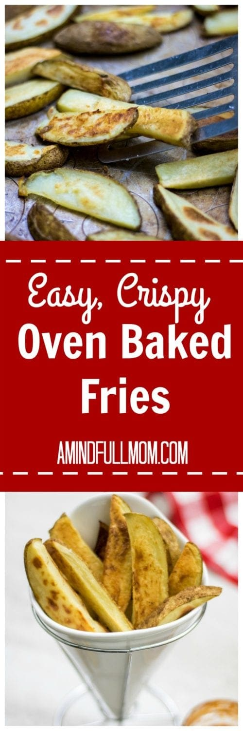 Look at that cripy exterior! So go ahead, make FRENCH FRIES for dinner and make your kids happy (big kids too) and not feel an ounce of guilt.