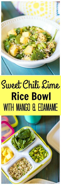 Sweet Chili Lime Rice Bowl With Mango And Edamame