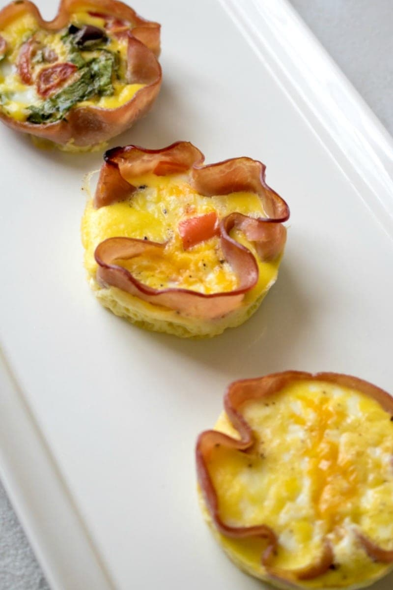 Three Varieties of Ham and Egg Cups