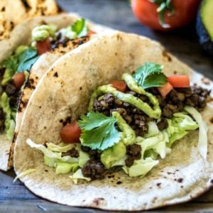 Easy Lentil Tacos with Avocado Cream