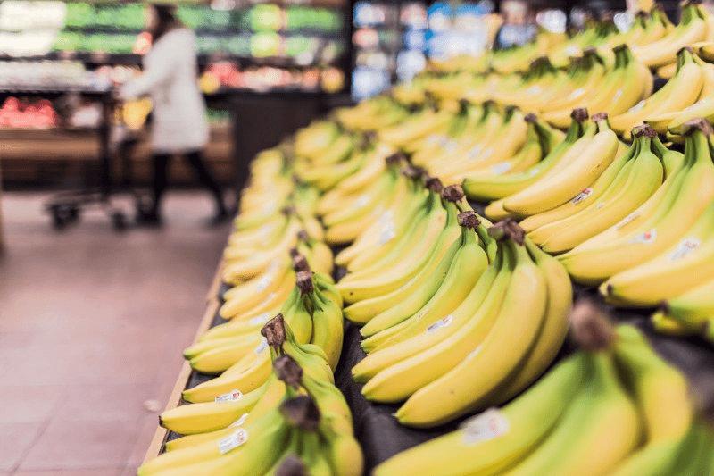 Grocery Isle with bananas on display