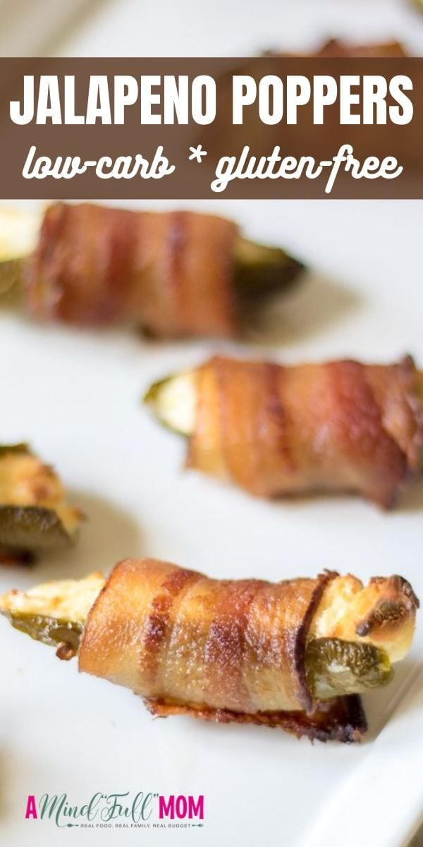 Grilled Jalapeno Poppers are an easy, creamy, delicious low-carb appetizer. Spicy jalapenos are stuffed with a smoky cream cheese filling, wrapped in bacon, and grilled to perfection for one spicy, creamy bite that is sure to light any appetite on fire!