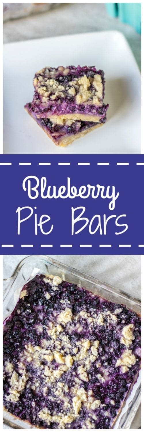 Sour Cream Blueberry Pie Bars: Creamy and decadent blueberry pie bars