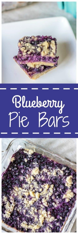 Sour Cream Blueberry Pie Bars: Creamy and decadent blueberry pie bars