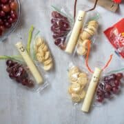 3 DIY butterfly snack baggies on white counter