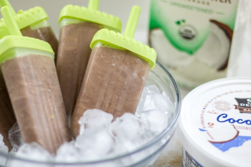 Dairy Free Fudgesicles: Rich, creamy, and full of chocolate, these easy homemade fudgesicles are better than ANY store-bought version. And happen to be dairy-free!