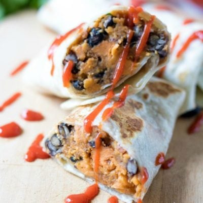 Vegan Sweet Potato Black Bean Burritos (+ Bonus Tex-Mex Stuffed Tomatoes)