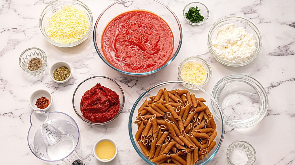 Ingredients for Slow Cooker Pasta
