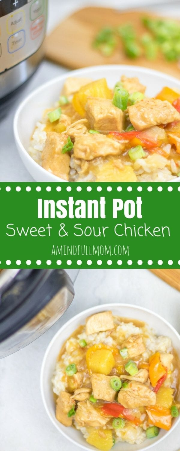 Instant Pot Sweet and Sour Chicken: A healthier spin on a favorite take-out dish that is made in under 10 minutes thanks to the Instant Pot. | Easy Chicken Dinner Recipes | Chicken Breast Recipes | Instant Pot Chicken Recipes | Asian Chicken Recipes | Gluten Free Chicken Recipes | Sugar Free Asian Recipes | Sugar Free Sweet and Sour Chicken | Gluten Free Sweet and Sour Chicken