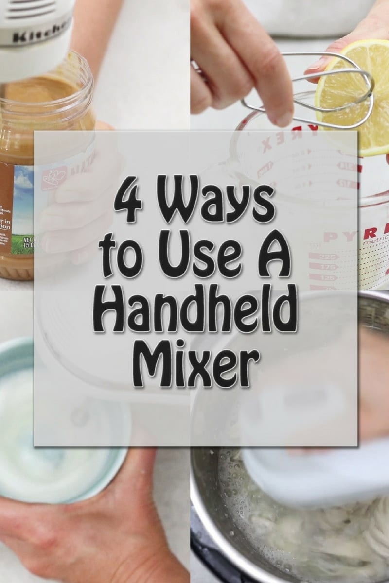 How to Use a Hand-Held Mixer In Ways You NEVER Thought Of! These creative uses for using a kitchen mixer will give you new ideas that will rock your world.