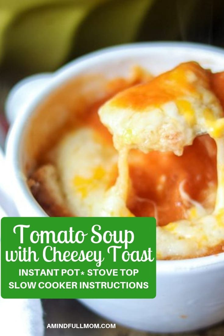 Homemade Tomato Soup is a rich, simple, delicious soup that comes together easily. But when it is topped off with toasted bread and melted cheese, this soup turns into the ultimate cheesy comfort food.Prepare this simple homemade tomato soup in on the stove, in the slow cooker, or in the Instant Pot, for an easy, flavorful meal.