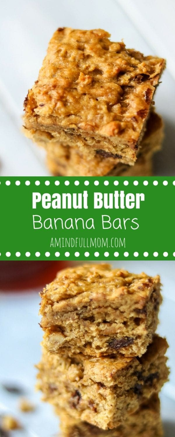 Chunky Monkey Bars: Chocolate Chip Peanut Butter Banana Bars: A delicious peanut butter banana bread bar filled with chocolate chips and chopped walnuts. Directions for Gluten-Free Peanut Butter Chocolate Chips Bars along with the traditional recipe.#baking #chocolate #cookies #peanutbutter #glutenfree #ediblegifts #holidaybaking