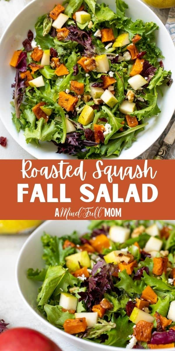 This is THE Fall Salad made to IMPRESS!!! Roasted Butternut Squash Salad is the BEST salad to make with seasonal fall produce. Roasted butternut squash, sweet pears, tart dried cranberries, sharp feta and a fresh Apple Cider Vinaigrette marry together to create simple, healthy salad that is filled with robust flavors.