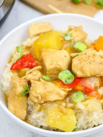 Bowl of Sweet and Sour Chicken
