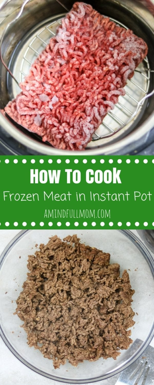 Instant Pot Ground Beef: The BEST way to make ground beef in the pressure cooker--perfectly cooked, tender beef EVERY SINGLE TIME! Directions on how to cook beef in Instant Pot from fresh and frozen with troubleshooting tips.