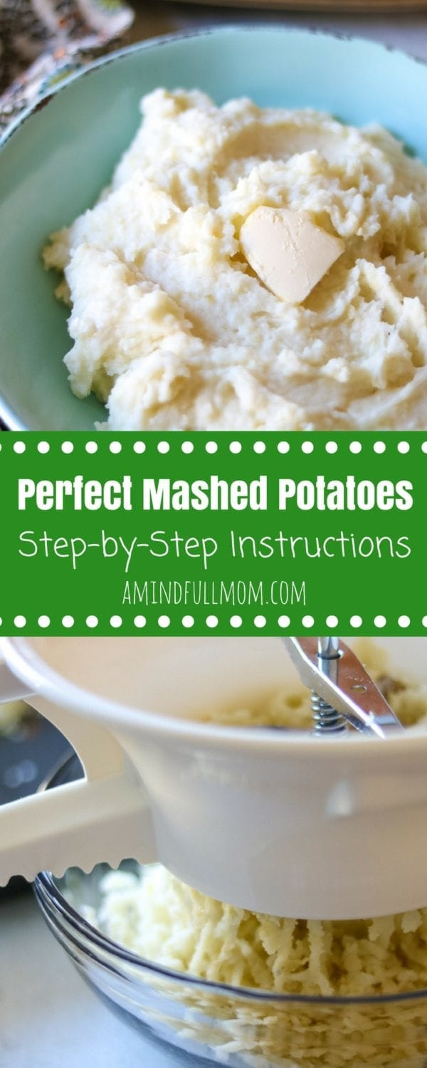 How to Make Perfect Mashed Potatoes: Step by step instructions and troubleshooting for making fluffy, creamy mashed potatoes. Includes steps on how to freeze mashed potatoes. #potatoes #sidedish #glutenfree #dairyfreeoption #easyrecipe