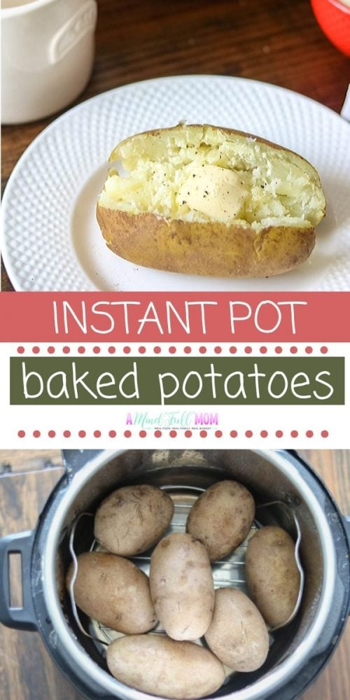 You will never want to use your oven again after making Instant Pot Baked Potatoes. Perfectly fluffy and fork tender potatoes are made in a FRACTION of the time in the Instant Pot. They make a perfect side dish to ANY meal. Directions on how to cook potatoes in Instant Pot with troubleshooting tips and cook times for various sized potatoes.