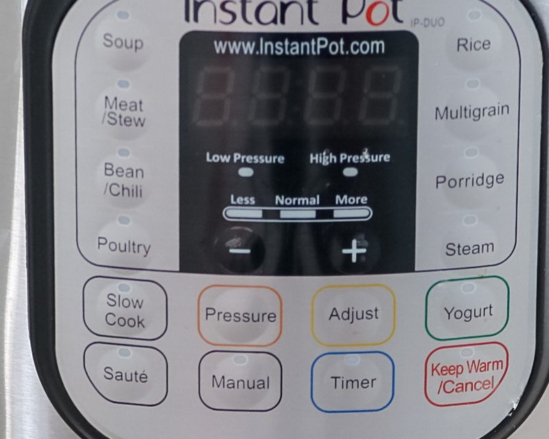 Buttons on Instant Pot-