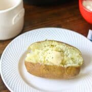 Baked Potato on White Plate