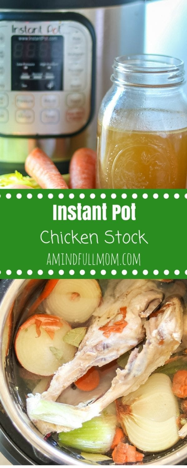 Instant Pot Chicken Stock: Step by step directions on how to make the most flavorful bone broth in the Instant Pot. Variations  for Vegetable Broth, Turkey Stock and Beef Stock recipes as well.