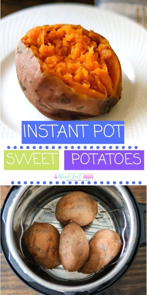 The Instant Pot makes the BEST Baked Sweet Potatoes! Fluffy, creamy, and perfectly tender, these Instant Pot Sweet Potatoes may not be much faster than oven baked, but they are SO MUCH better with much less clean up!