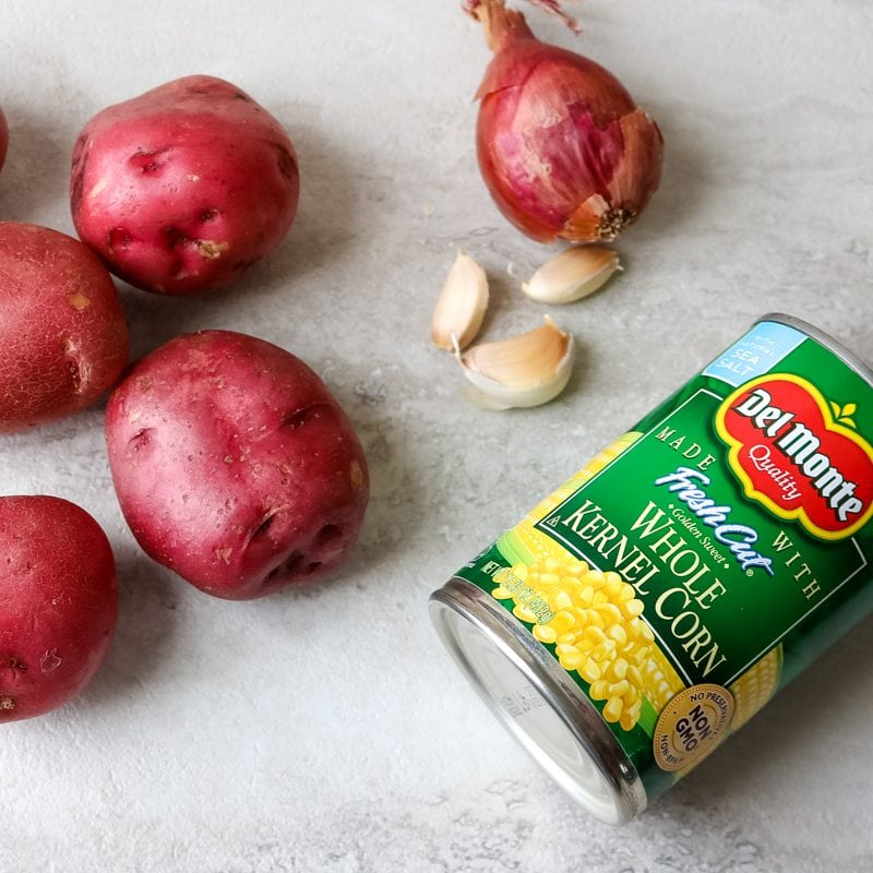 Ingredients for Pantry Corn Chowder