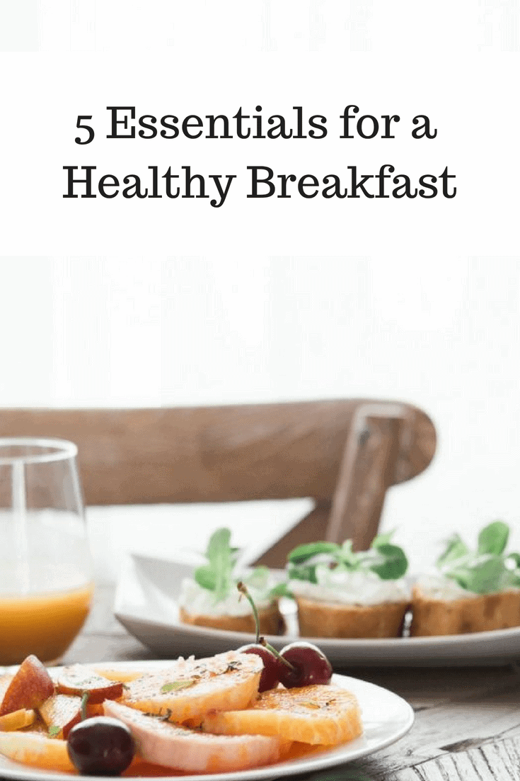 Breakfast Table with Essentials for a Healthy Breakfast