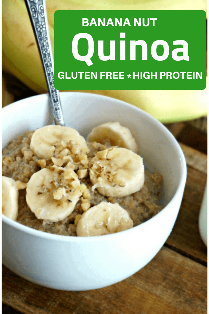 Start your day with a protein-packed, calcium-rich bowl of Banana Nut Quinoa Breakfast cereal and know that your morning will be fueled with nutrients you need to stay sharp, focused, and to start your day right!