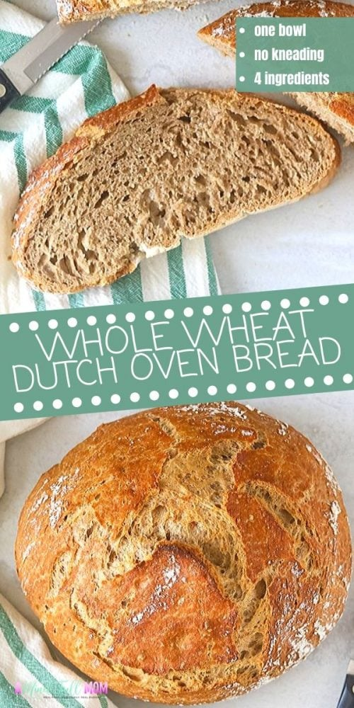 This is the EASIEST method for making Whole Wheat Bread! This recipe for No-Knead bread is made without special equipment, only a few minutes of prep and produces the most delicious hearty, rustic bread.