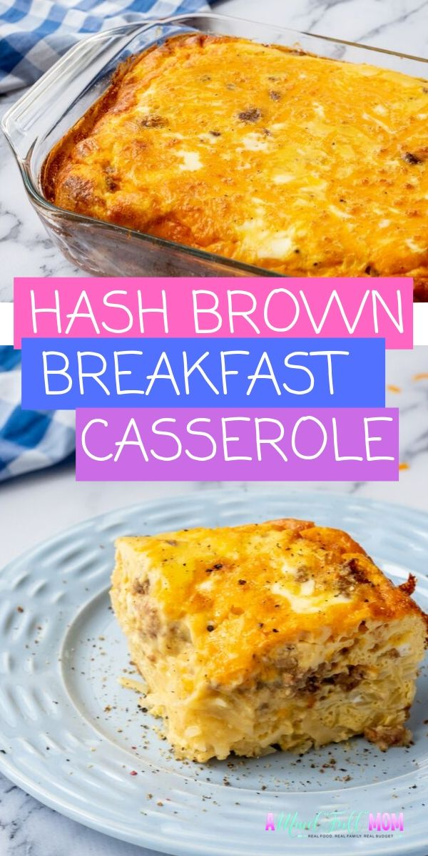 This Hash Brown Casserole is the BEST breakfast to make for guests, holiday mornings, or even a weekday breakfast! It is an easy breakfast casserole is made with frozen hash browns, eggs, sausage and cheese. This will become your go-to casserole for entertaining at breakfast–perfect for a feeding a crowd, allergy-friendly, and can be made the night before or the morning of.