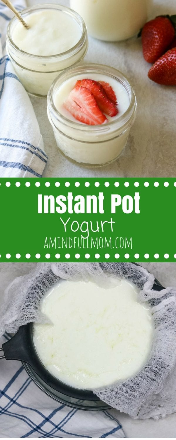 Instant Pot Yogurt: Step by step directions for making yogurt in an electric pressure cooker. Includes directions for nonfat, full fat and Greek yogurt. Also ways to naturally sweeten yogurt. This is EVERYTHING you need to know about making Instant Pot Yogurt. #instantpot #pressurecooker #yogurt