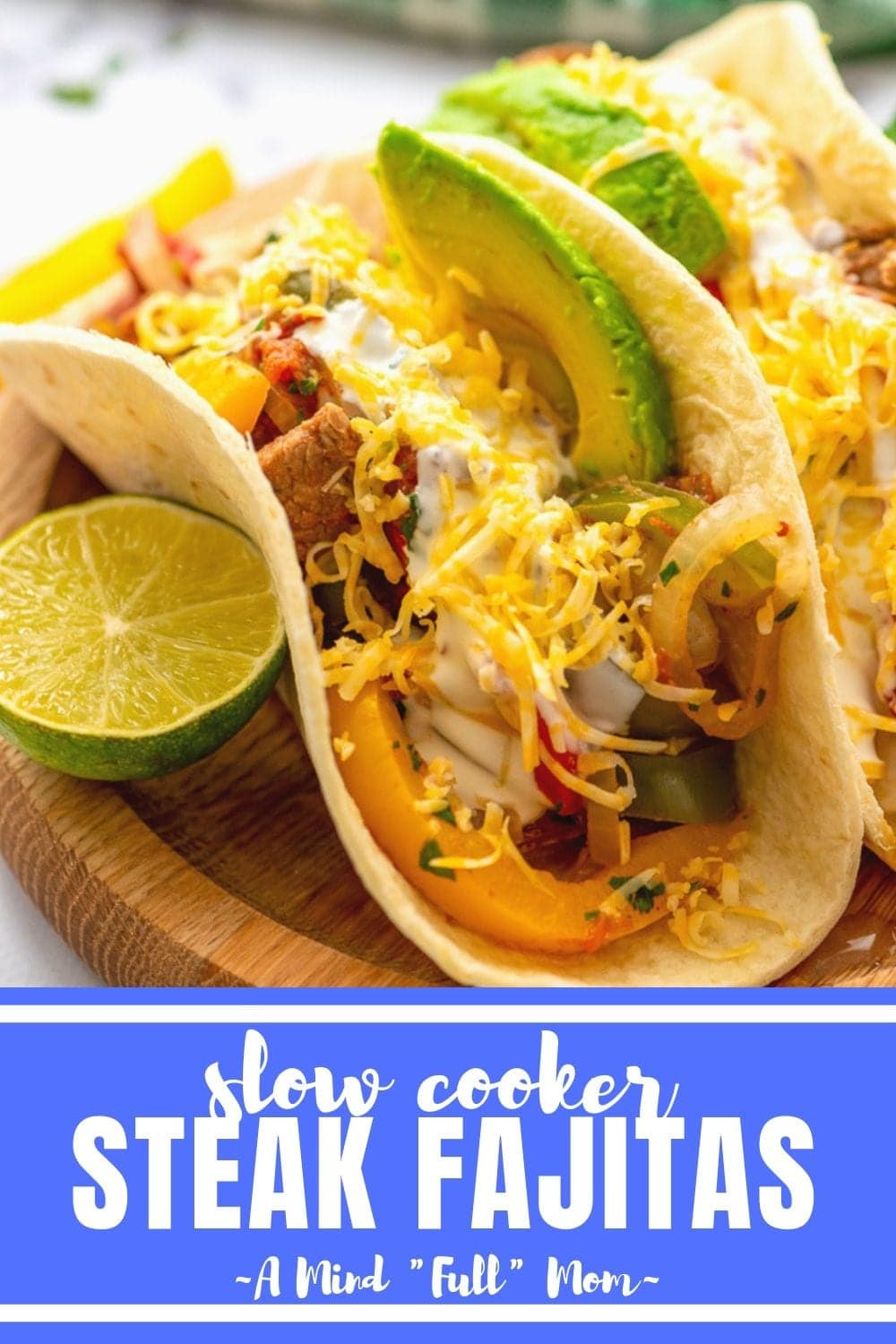 Skip the Mexican restaurant and let your slow cooker make steak fajitas for you! These Crock Pot Steak Fajitas come together with a few simple steps and are served up with all the flavor of a restaurant dish!