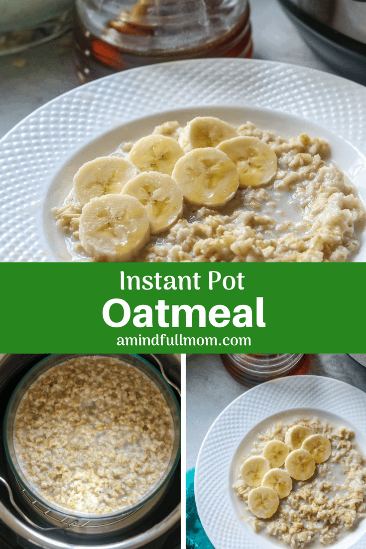 Instant Pot Oatmeal: How to cook old fashioned oats perfectly in the pressure cooker. Ideas for toppings, and flavor combinations as well. Vegan and gluten free variations. #instantpot #oatmeal #breakfastrecipes