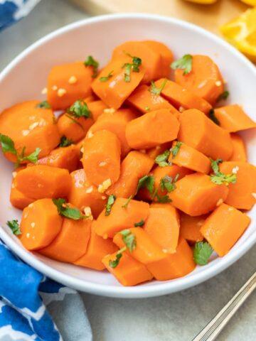 Bowl of Glazed Carrots