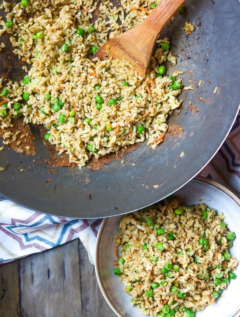 Easy Vegetable Fried Rice 10 Minute Dinner Recipe