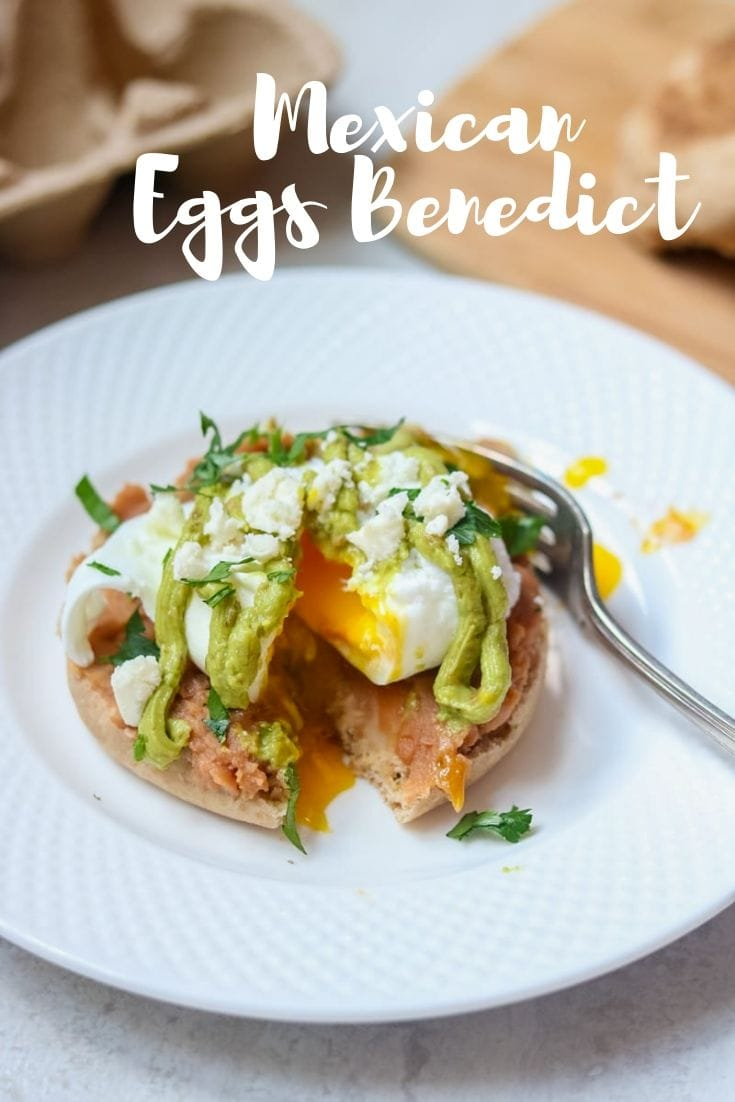 Change up Classic Eggs Benedict with this easy, fresh Mexican Eggs Benedict.