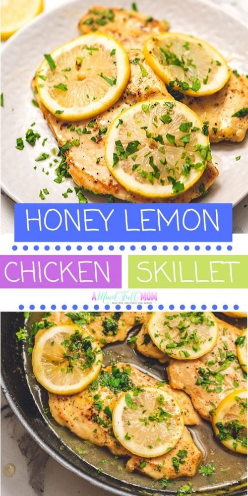 This one pan chicken skillet recipe is a weeknight dinner lifesaver. With just a handful of ingredients and less than 20 minutes, this simple chicken dinner is on the table! Easy, healthy, and full of flavor--a perfect family dinner recipe!