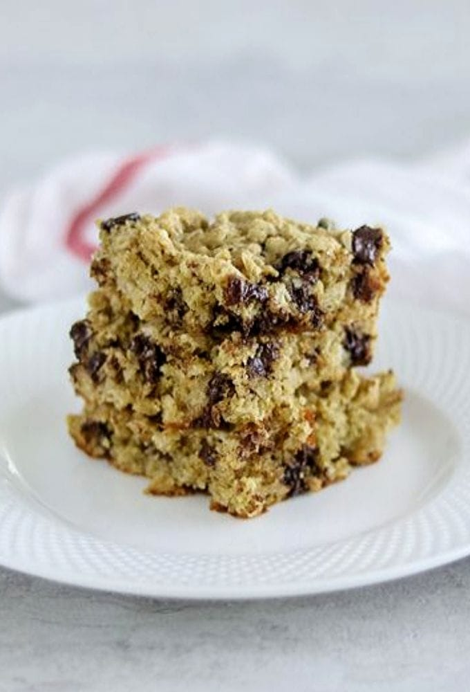 3 Oatmeal Cookie Bars Stacked on top of each other