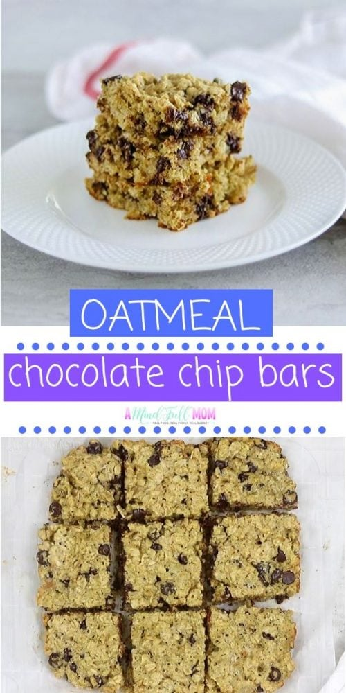 Chocolate Chip have been given a healthy make-over, making this easy dessert perfect for snacking on anytime! Chewy, soft, and bursting with chocolate, these oatmeal cookie bars are a great treat for potlucks and parties.