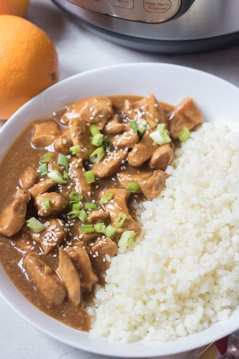 Easy Instant Pot Orange Chicken with Rice