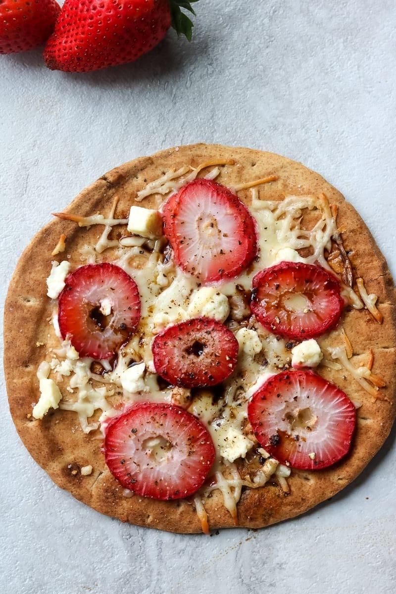 Strawberry Feta Pita Pizza