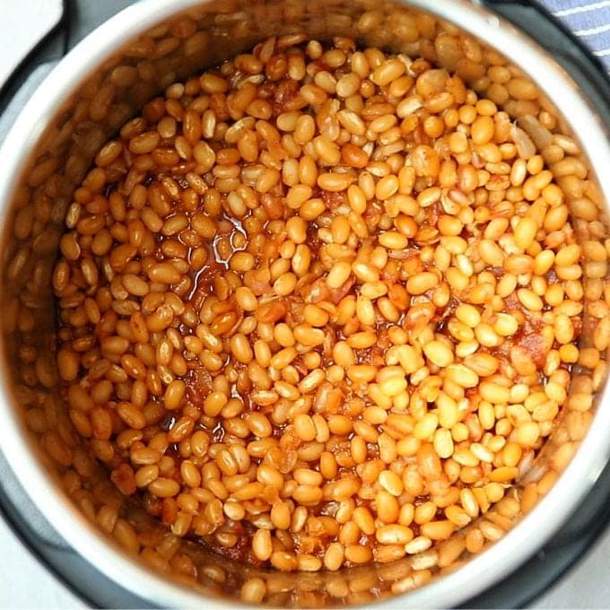 Baked Beans Cooked inside Instant Pot