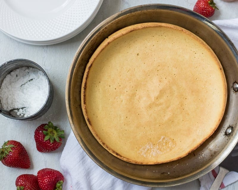 Baked Oven Pancake in skillet