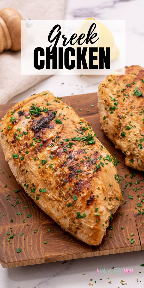 An easy Greek Chicken Marinade recipe that yields the most tender, juicy chicken. Perfect for prepping meals in advance, freezing, or just a quick go-to chicken dinner.