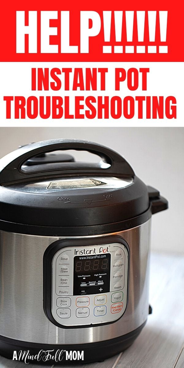 HELP!!! If you are having issues with your instant pot not sealing or cooking properly--this will help! Find out why your Instant Pot is NOT sealing and exactly how to fix the issue. Troubleshooting all the various reasons an electric pressure cooker may not seal properly and how to fix the issue so you can get back to pressure cooking with success.