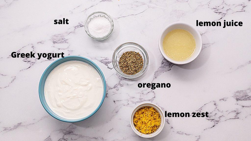 Ingredients for Greek marinade