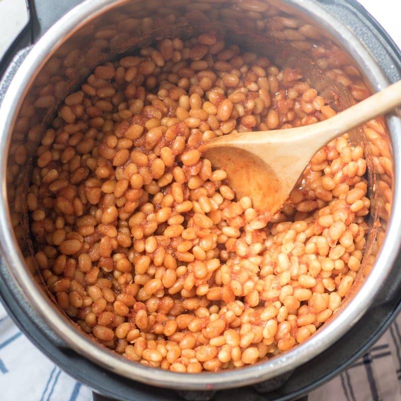 Easy Pressure Cooker Baked Beans