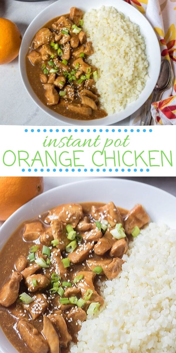 Instant Pot Orange Chicken is incredibly delicious and easy to make with simple ingredients. This healthy spin on your favorite Chinese take out comes together from start to finish in less than 30 minutes for an easy, healthy version made in the electric pressure cooker. This Orange Chicken is perfect for dinner on busy nights!