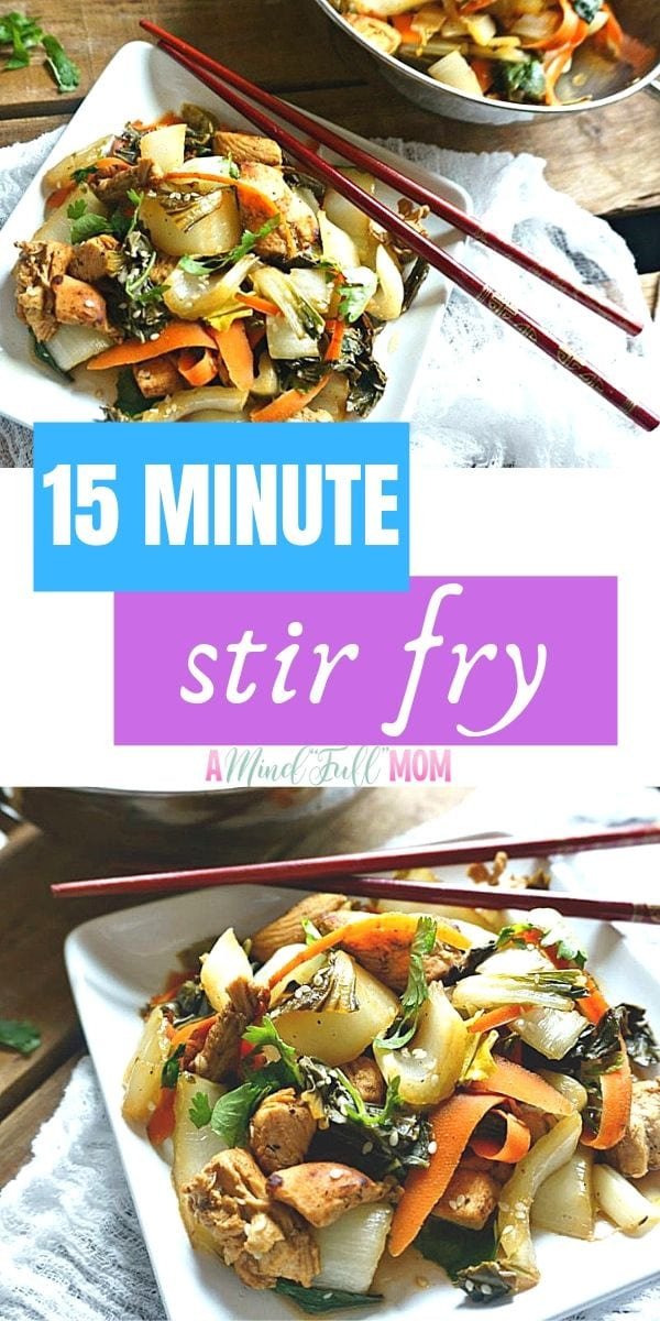A few ingredients and 15 minutes is all it takes to make this simple Chicken Stir Fry with Bok Choy! This bok choy recipe is easy, healthy and can be made gluten-free, paleo and is low carb.