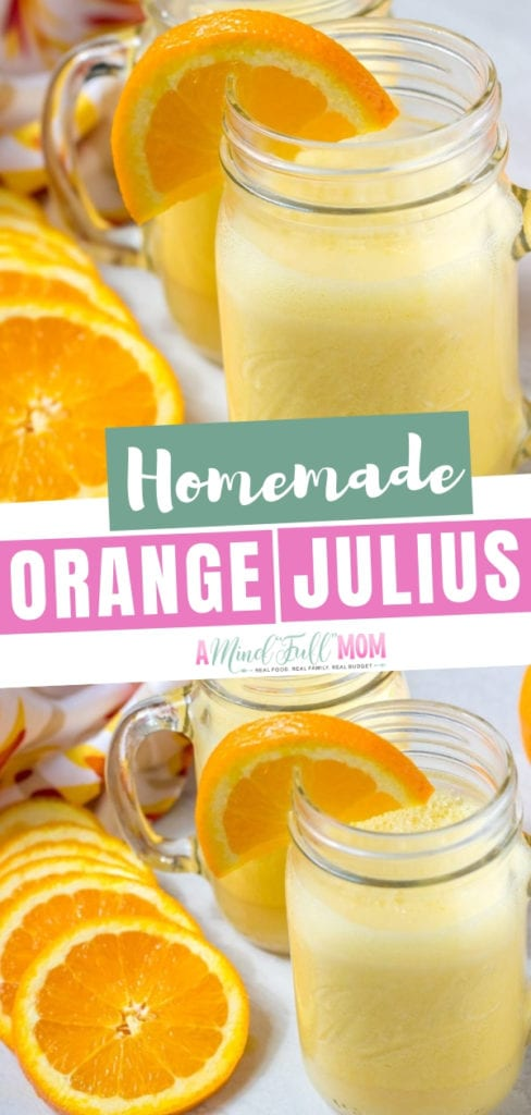 A dairy free, zero sugar, and healthy homemade Orange Julius recipe! This 3 ingredient orange Julius smoothie is so easy you can whip it up in 2 minutes! Learn how to make the regular orange Julius or the tipsy orange Julius for adults to enjoy!